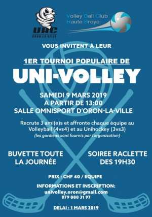 1er Tournoi populaire de Uni-volley